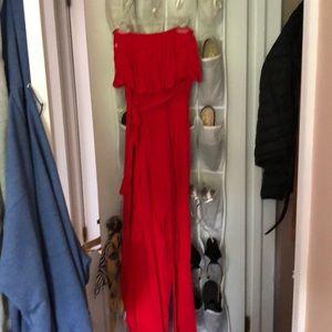 Pants - Cute flowy red jumpsuit